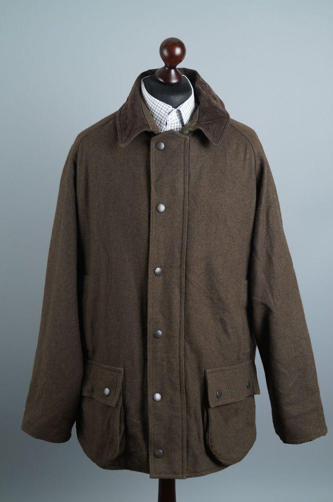 webbplats för rabatt Ganska nice få nya Genuine BARBOUR T 515 Wool Beaufort Jacket Olive Hunting Shooting ...