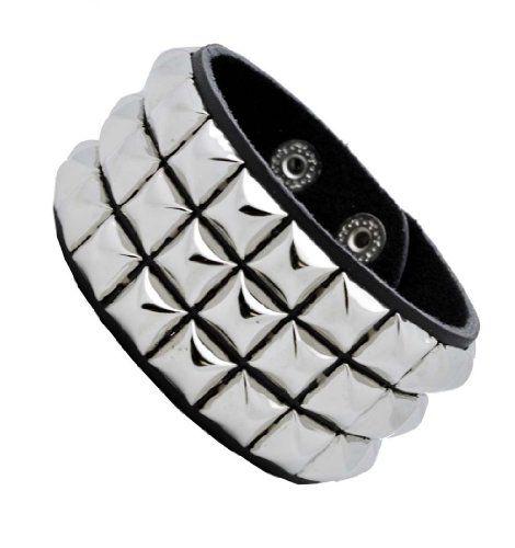 Metal Emo Punk Goth Studded leather bracelet
