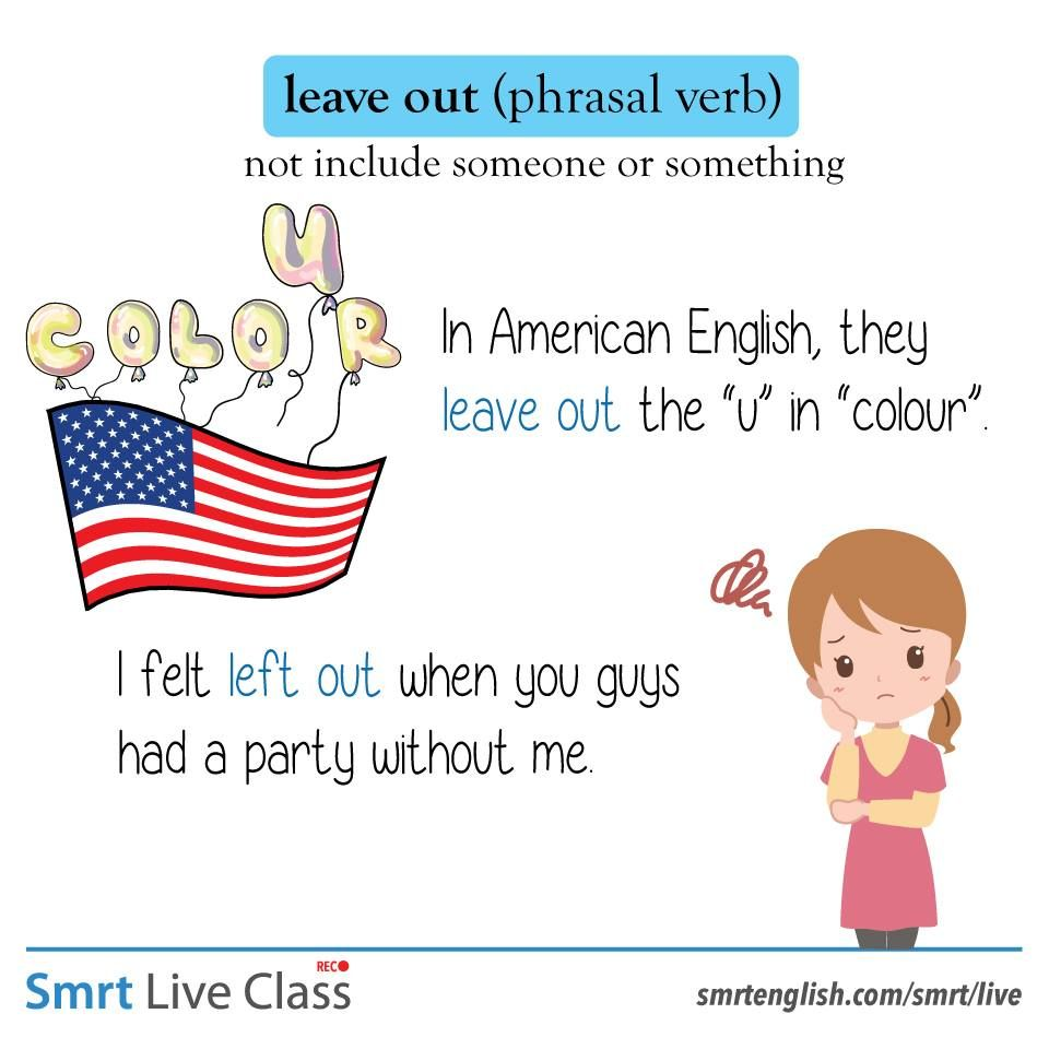 Phrasal Verb: leave out