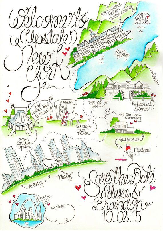 upstate new york wedding map albany wedding by designermapsbyzoe