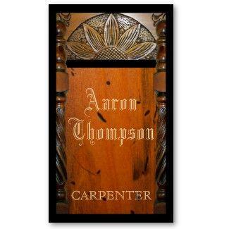 Carpenter Woodwork Business Card By Sunnymars More Carpenter