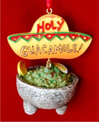 Mexican Food Guacamole Heaven Personalized Christmas Ornament Food
