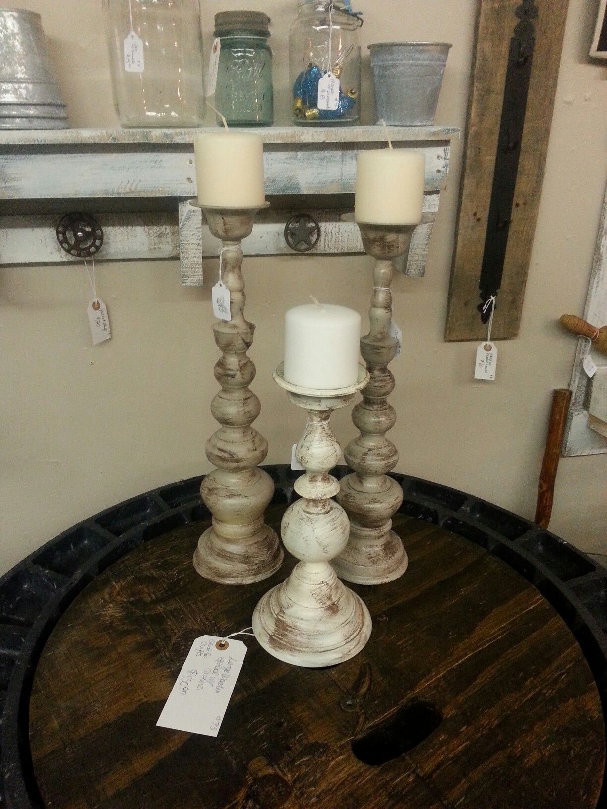 Repurposed Brass Candlesticks Magnolia Market Candlesticks
