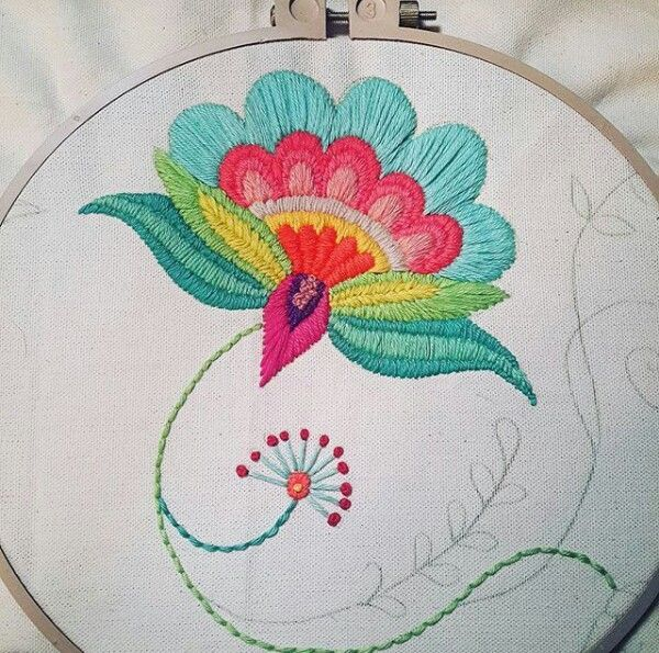 Hand embroidery | Bordado mexicano | Pinterest | Bordado, Bordados ...