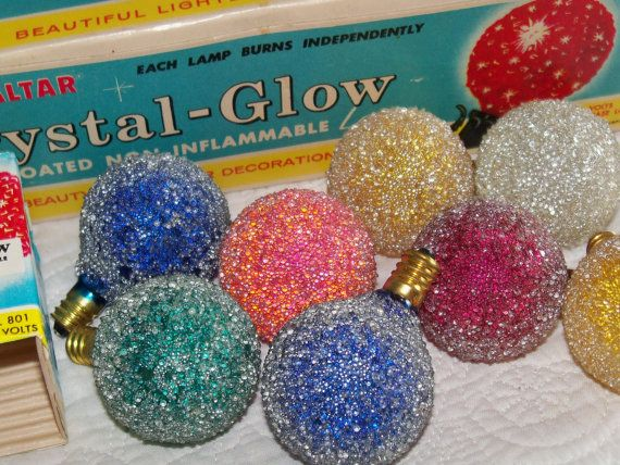 Vintage Snowball Christmas Light Bulbs <> One of the reasons my ...