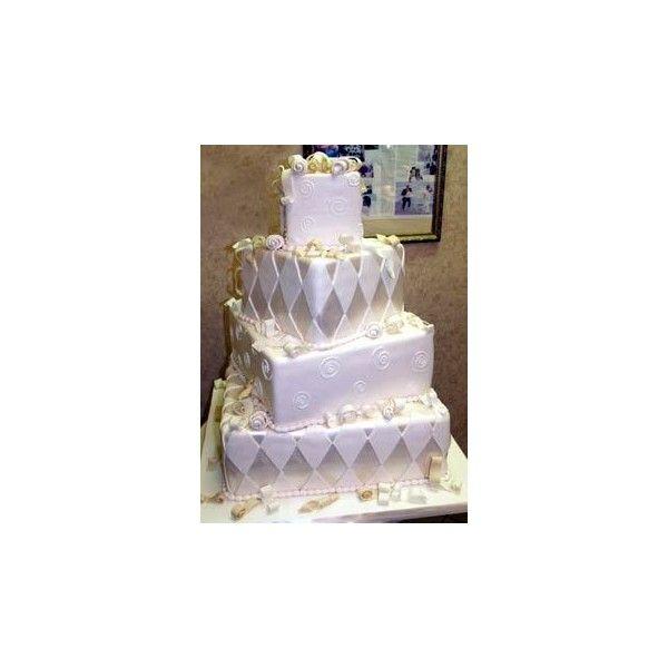 Stylish Silver Wedding Cake Designs via Polyvore