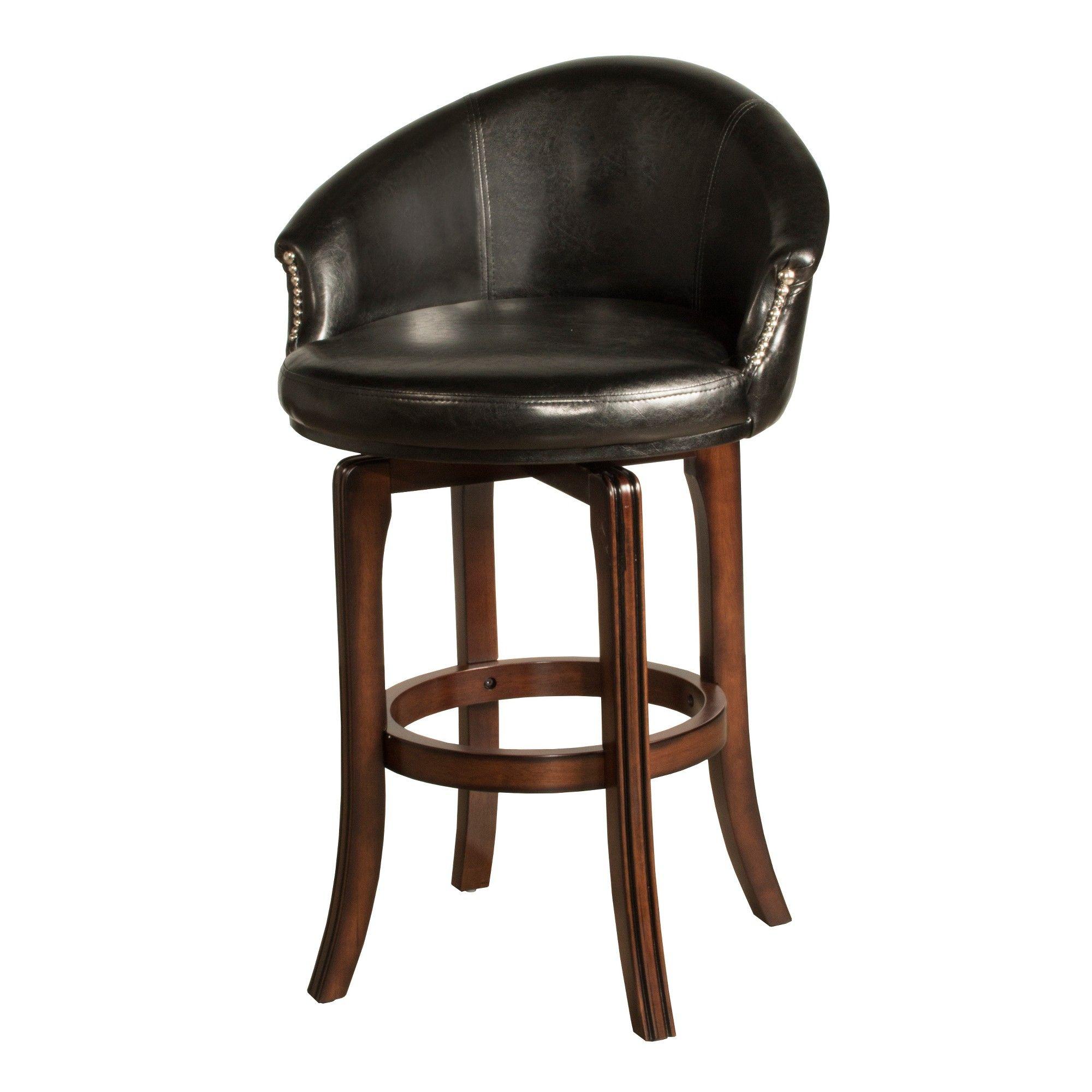 30 Dartford Swivel Bar Stool Brown Black Hillsdale Furniture