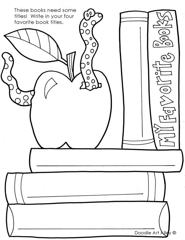 Back To School Coloring Pages Printables Classroom Doodles In