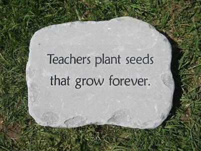 Teacher Retirement Gift Personalized Engraved Stones | Custom Engraved  Garden Stone By Adirondack Stone Works