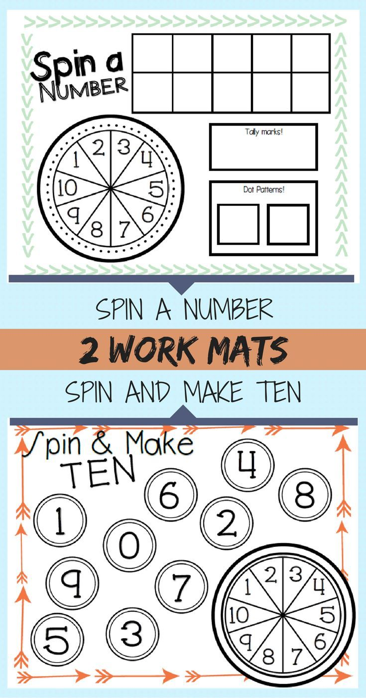Spinner Math Activities for Composing Ten and Number Sense in ...