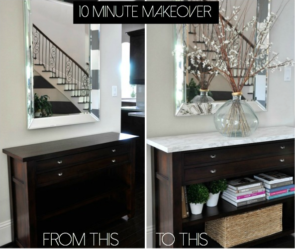contact paper for furniture. how to add marble contact paper furniture for a drastic makeover what beautiful foyer piece e