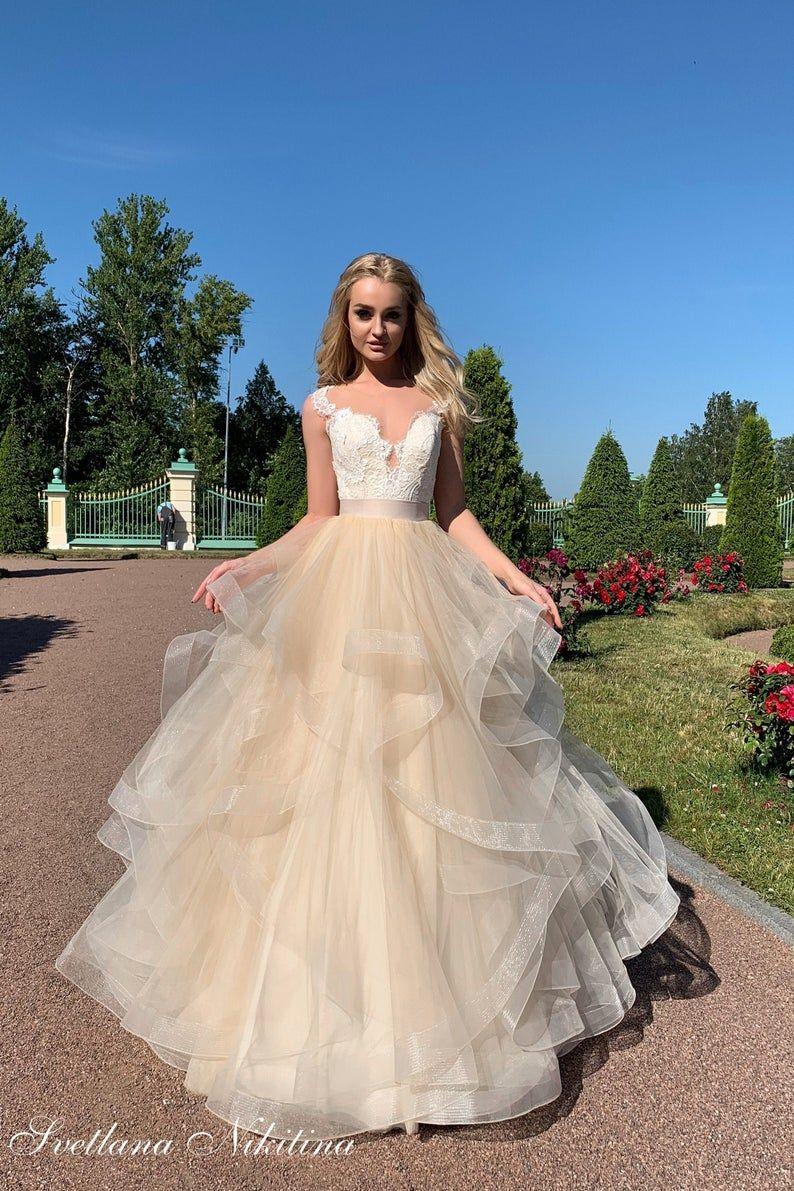 Detachable ruffle skirt tulle skirt transformer wedding