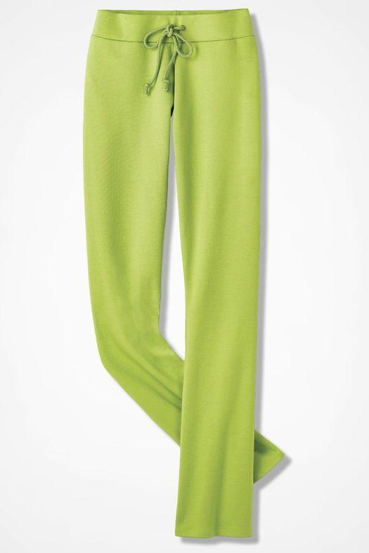 Essential Supima® Pants, Mid Avocado