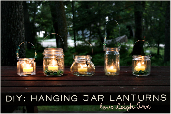 how to: hanging lanterns by Freckled Nest
