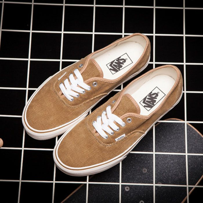 51f20cf36d44c3 Vans Brown Corduroy Authentic Shoes Classic Canvas