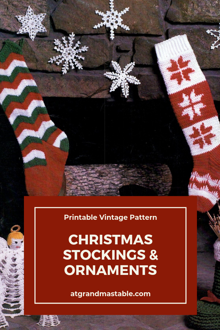 graphic regarding Stocking Patterns Printable identify Typical Xmas Stocking Practice Knit and Crochet