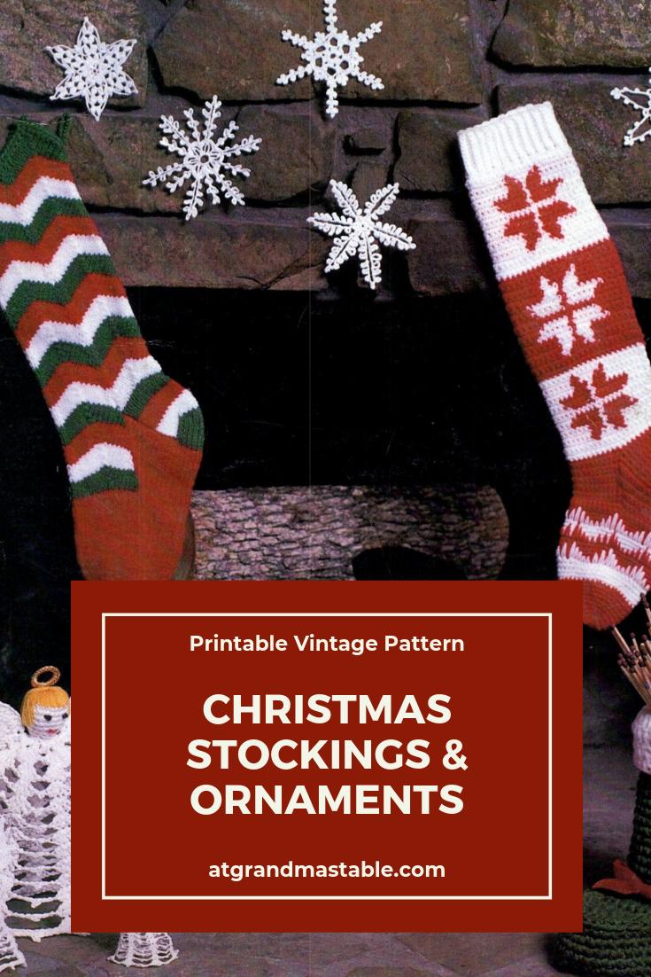 photo regarding Stocking Patterns Printable known as Basic Xmas Stocking Habit Knit and Crochet