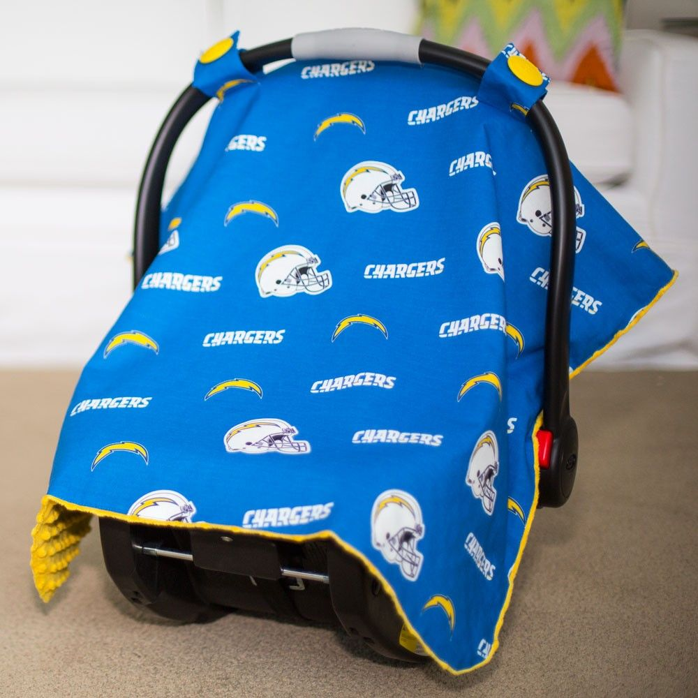 21a3f50d San Diego Chargers Baby Gear: Infant Carseat Canopy Cover, NFL ...