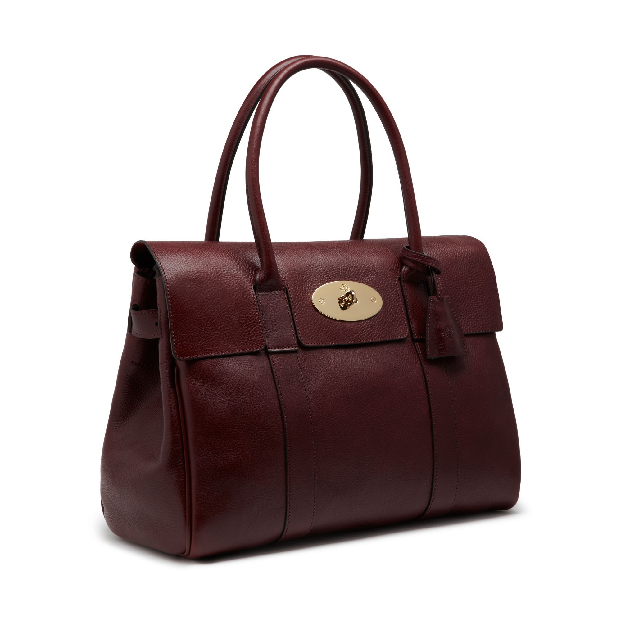 Heritage Bayswater Oxblood Natural Leather Women Mulberry