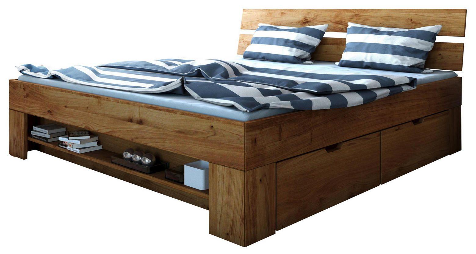 Stauraumbett Wildeiche Massiv Online Kaufen Stauraumbett Bett Schlafzimmermöbel