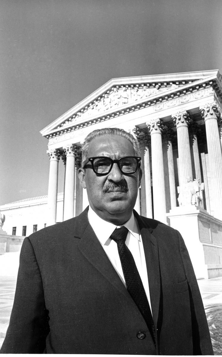 Examples Of Thesis Essays Thurgood Marshall  Grandson Of A Slave Marshall Was The First  African American Jurist On The Us Supreme Court Essay About Good Health also The Newspaper Essay Thurgood Marshall  Grandson Of A Slave Marshall Was The  Business Management Essay Topics