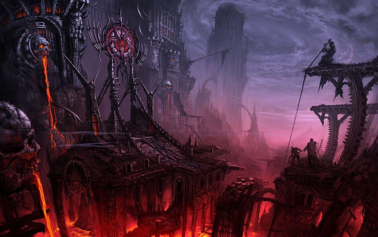 Dark Fantasy Welt wallpapers Fantasía oscura, Paisajes