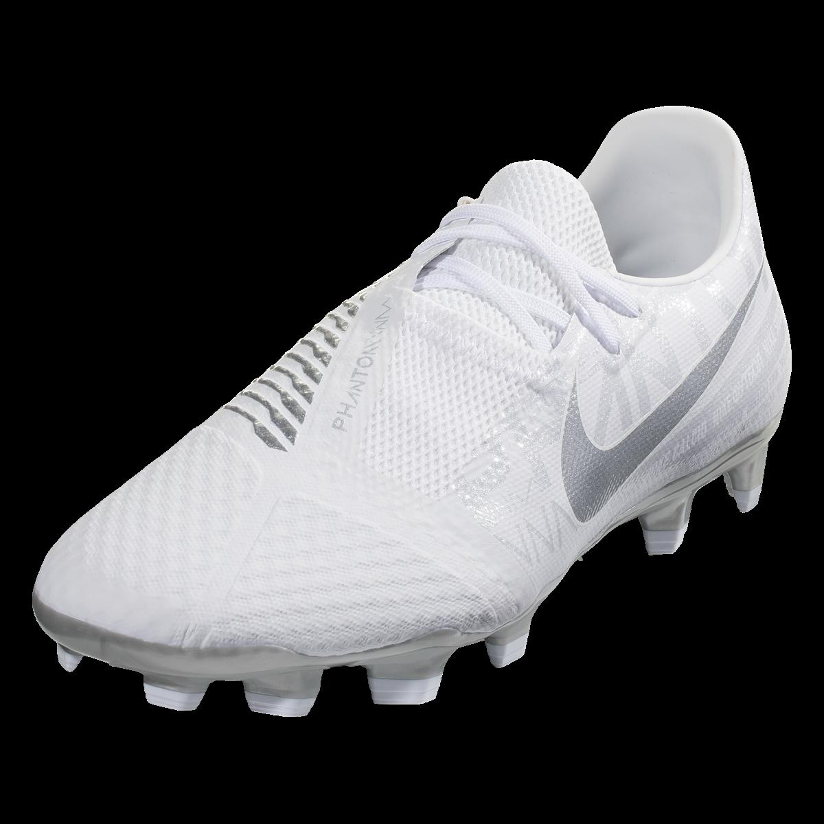 Nike Phantom Venom Academy Fg Firm Ground Soccer Shoe White Metallic Platinum 11 5 Soccer Shoe Soccer Nike Cleats