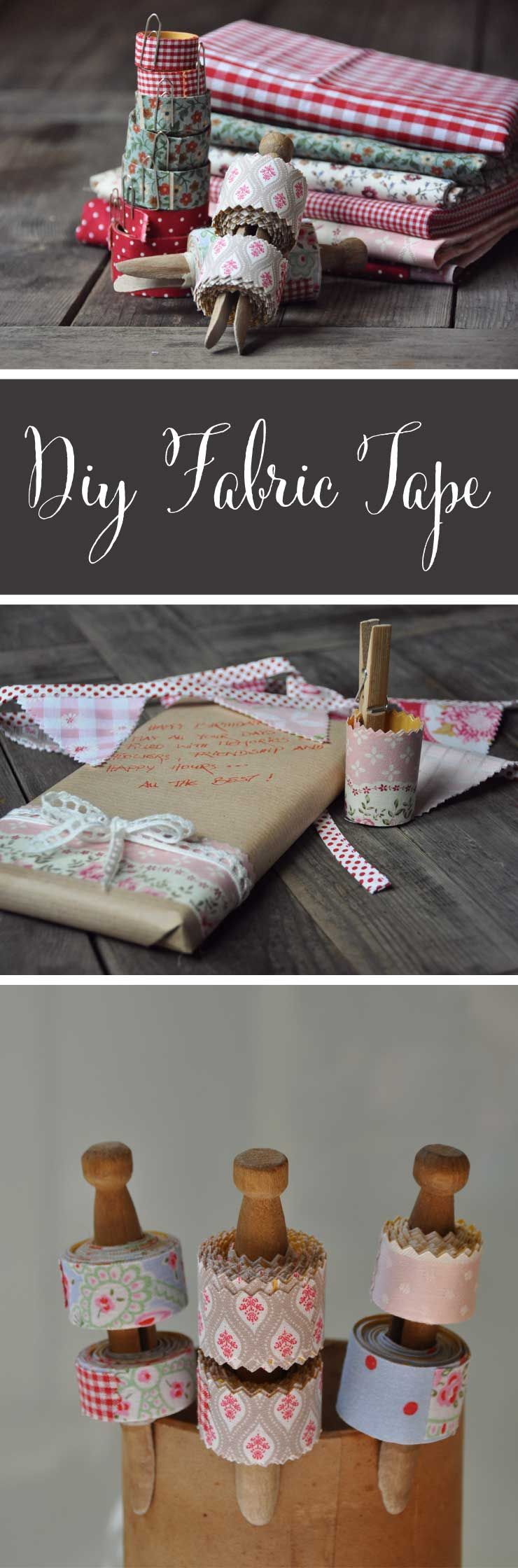 DIY Fabric Tape from {nifty thrifty things}