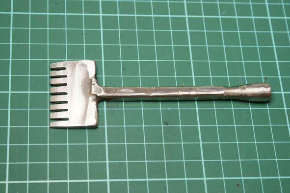 Cuero y Madera: Herramienta tenedor para cuero