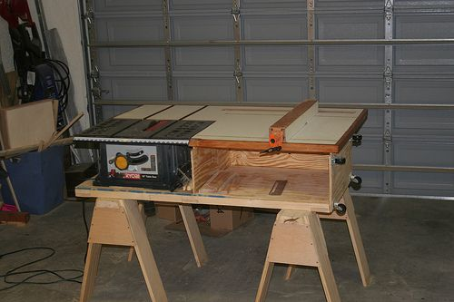 Table Saw Station With Images Diy Table Saw Woodworking Table Saw