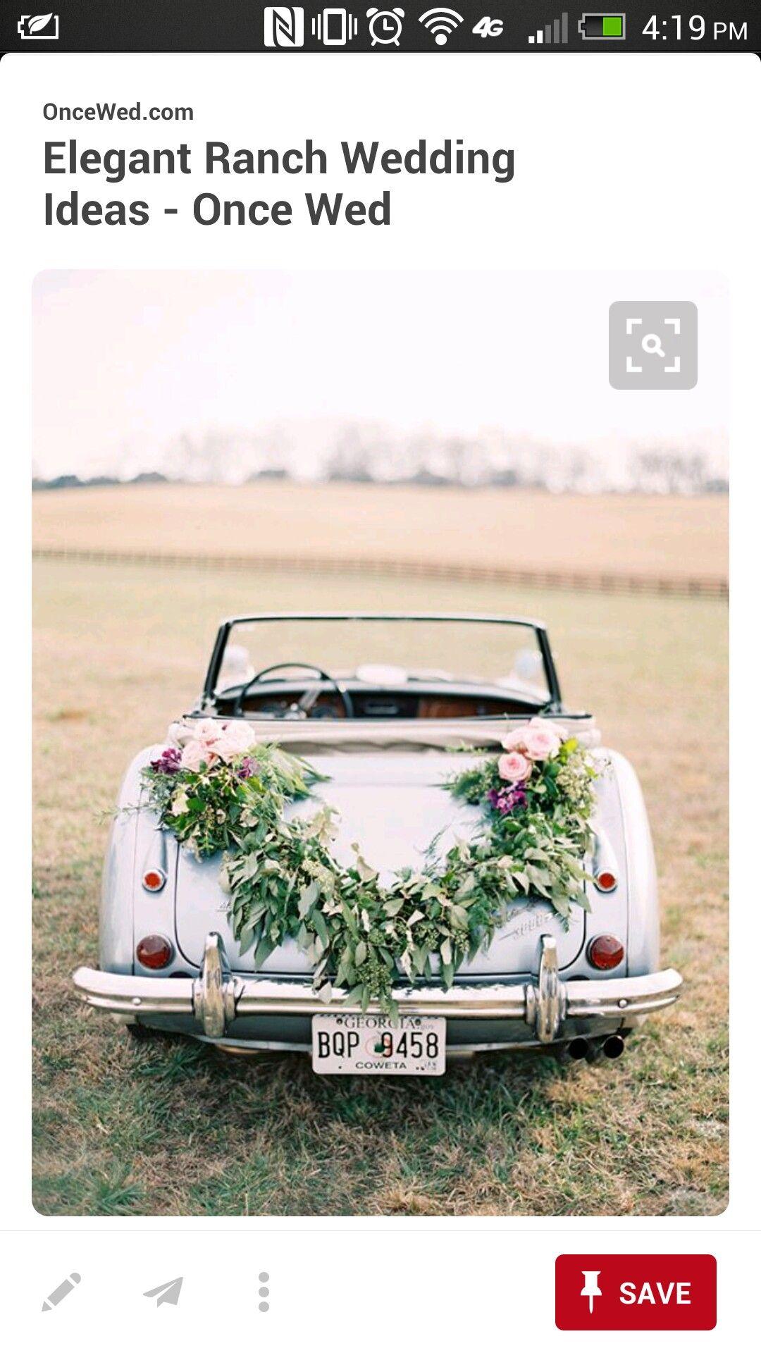 Car Magnets Wedding Garlands Cars