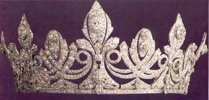 Queen Ena's Diamond Tiara; Worn At: Pre-Wedding Ball of Gabriel and Petra --- 2014 French National Day Banquet --- 2015 Swedish-French State Visit State Banquet