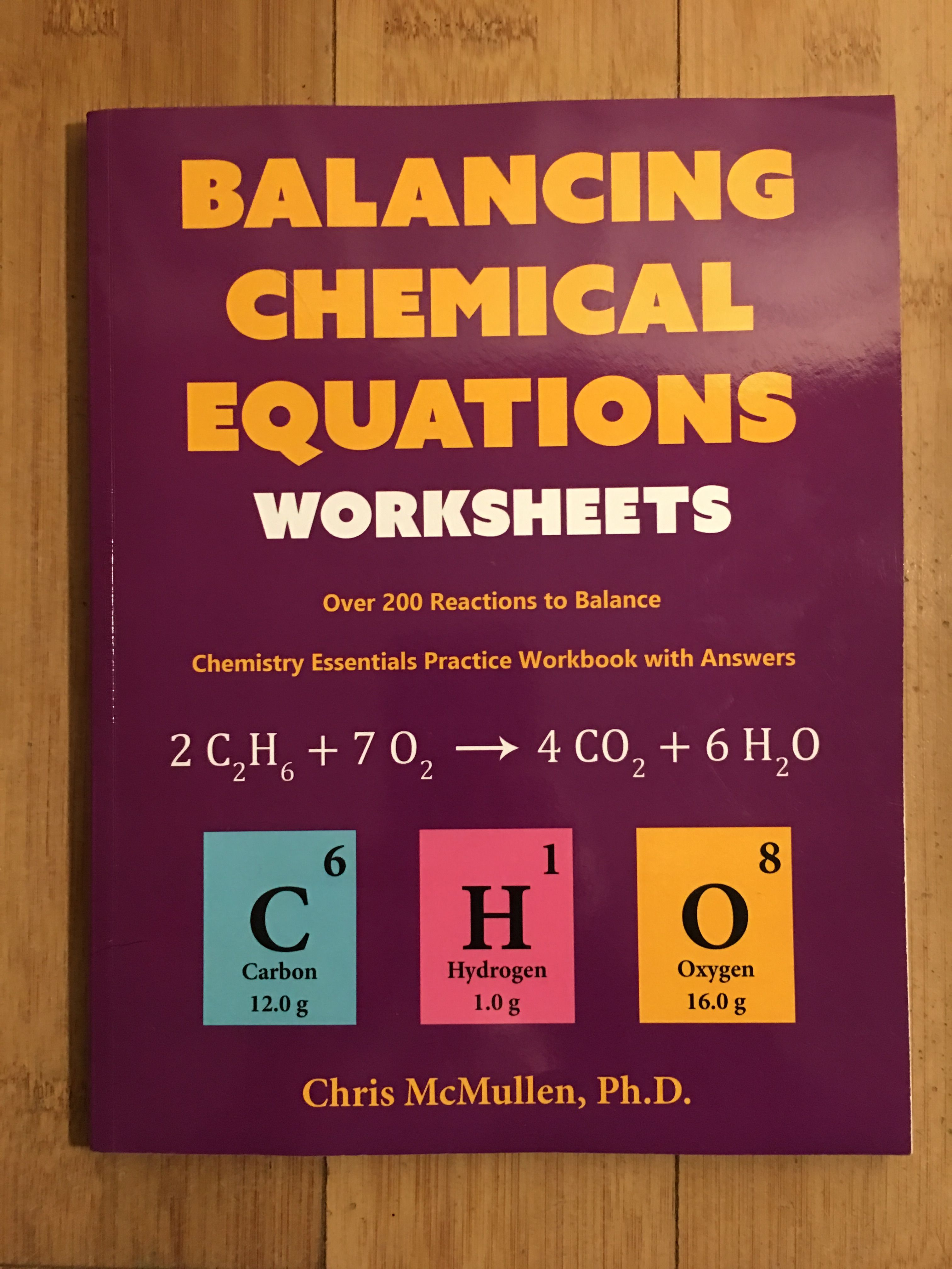 Balancing Chemical Equations Worksheets Is A Fun