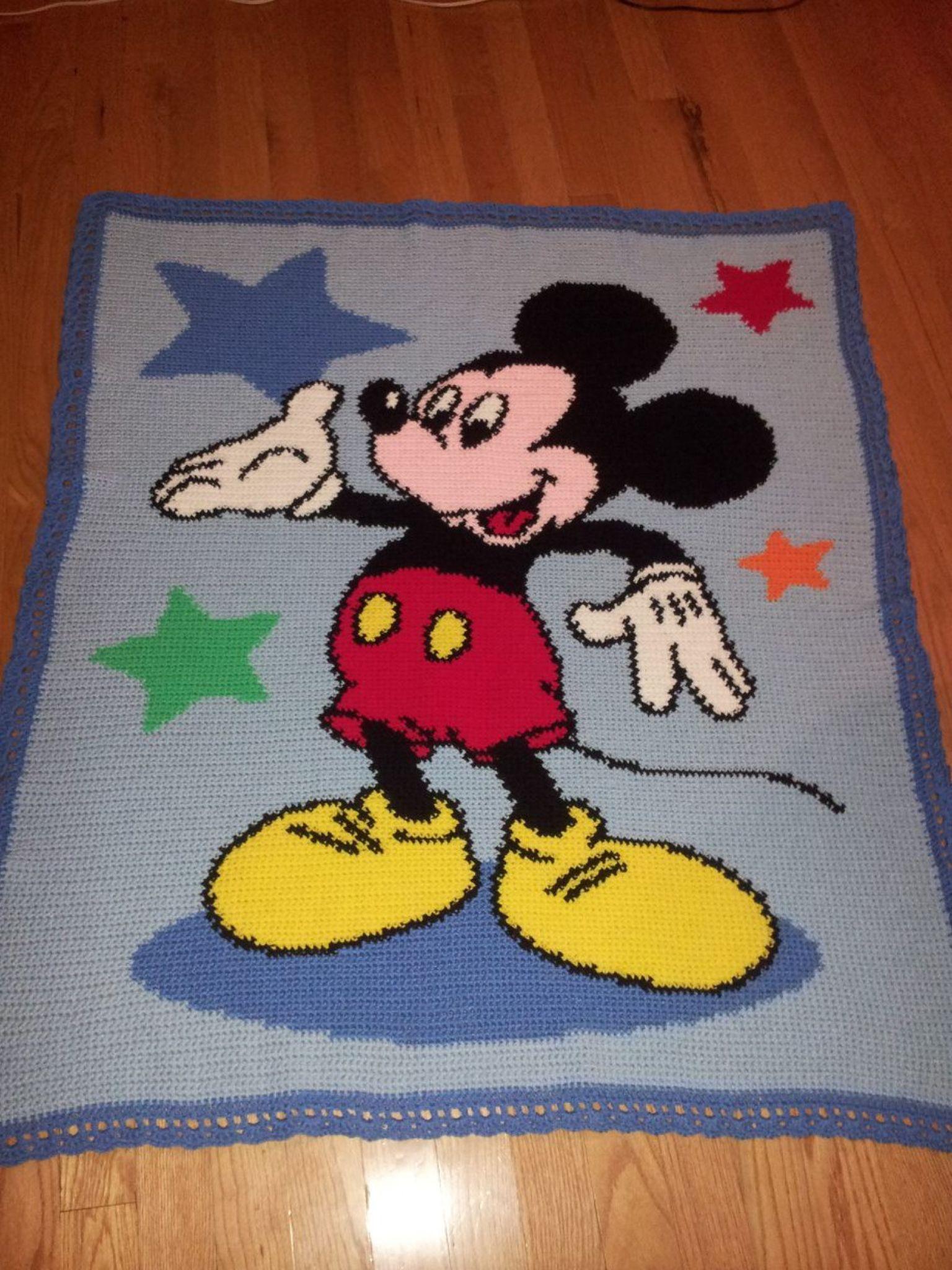 Crochet Mickey Mouse Afghan | örgü | Pinterest