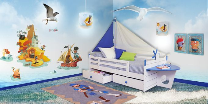 chambre pirate id e chambre enfant pinterest chambre pirate chambres et pirate. Black Bedroom Furniture Sets. Home Design Ideas