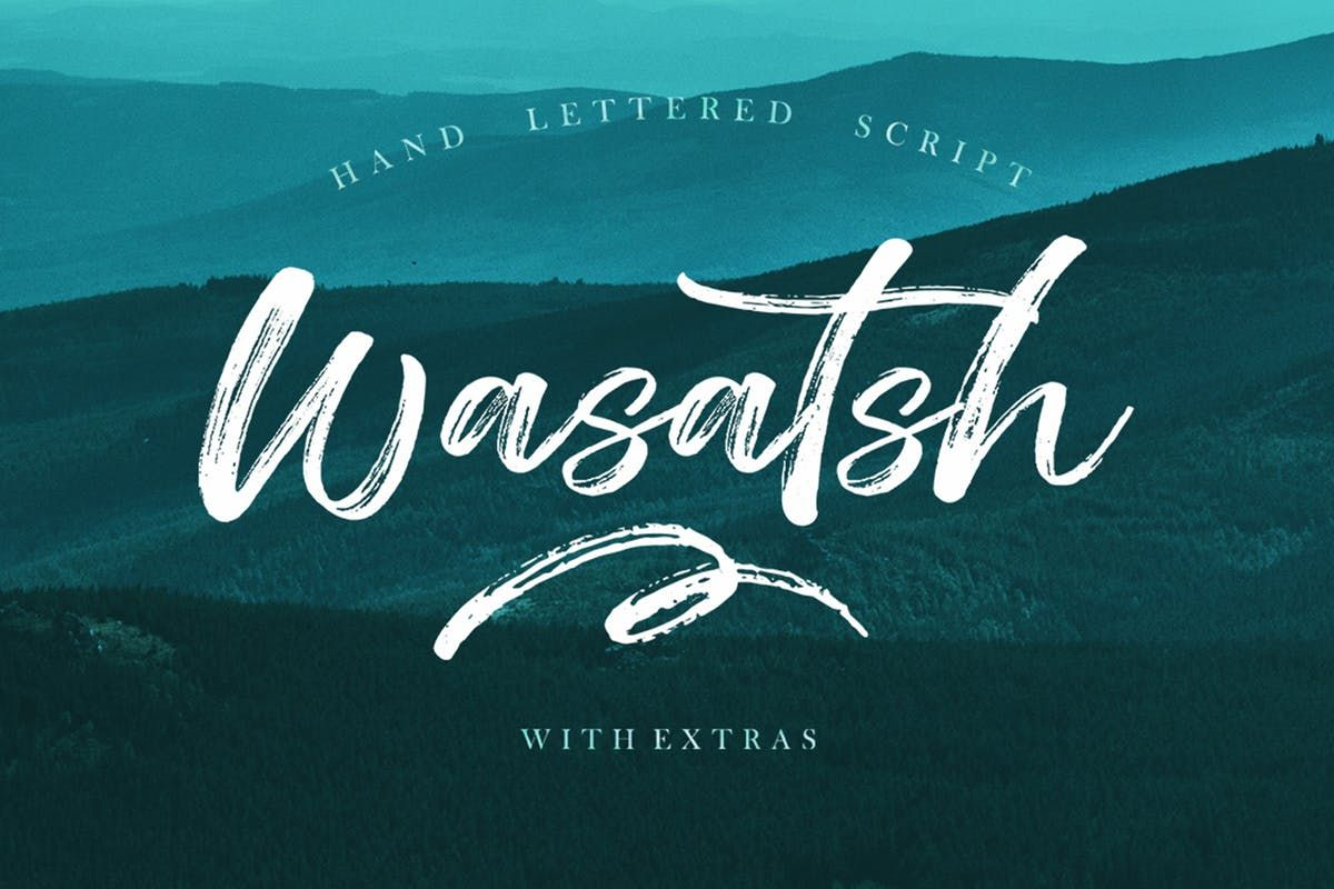 Wasatsh Brush By Areatype On Brush Font Lettering Handwritten