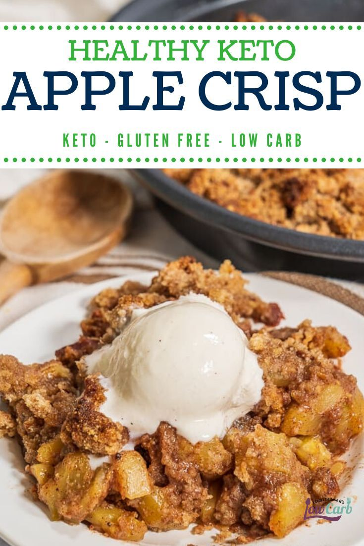Best Healthy Keto Apple Crisp Recipe - Gluten-Free and Low Carb