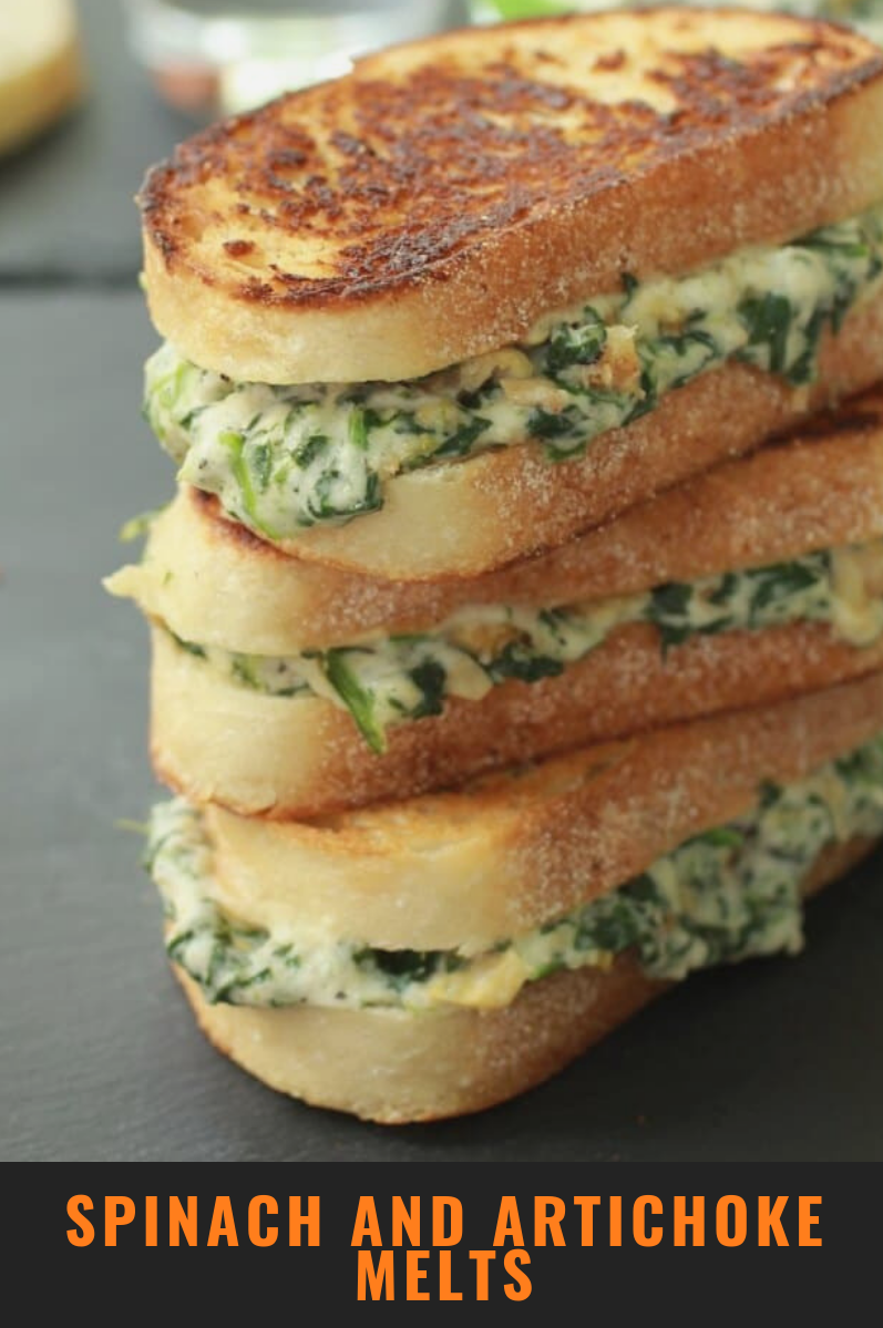 Photo of spinach and artichoke melts
