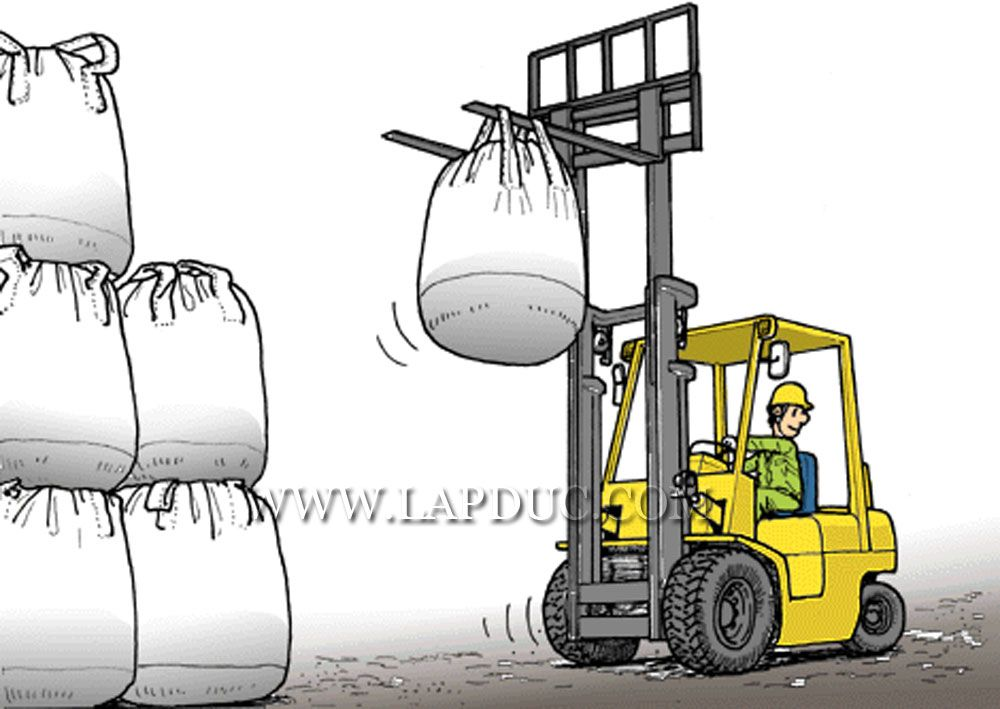 ForkliftAccident Case 24 Using a lift truck, an operator worker is about to carry a sack called ...