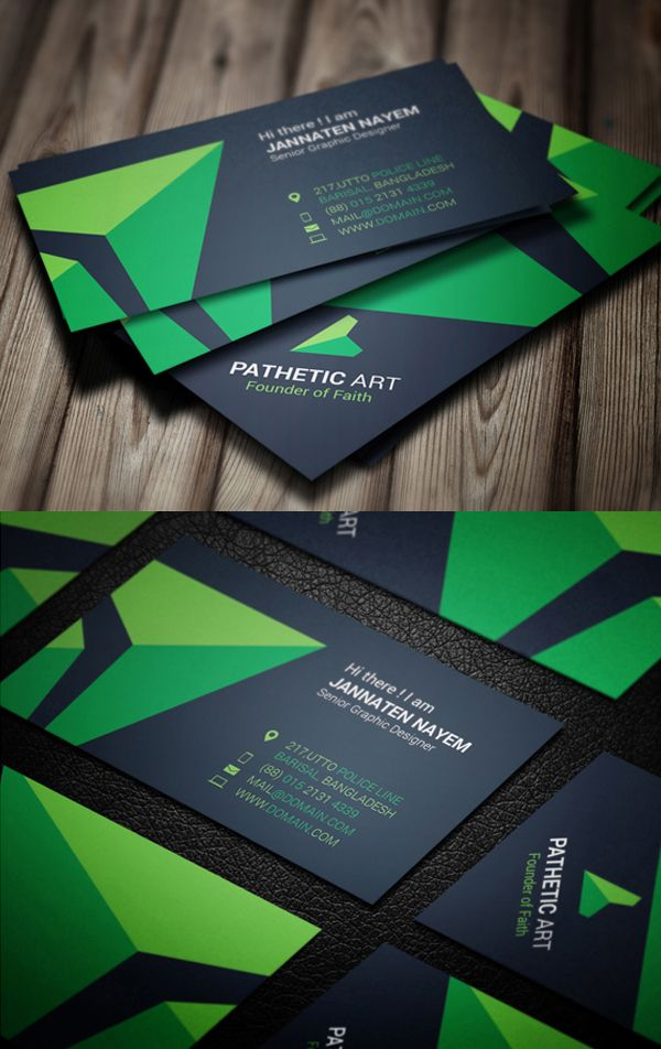 23 Corporate Creative Business Card Psd Templates With Images