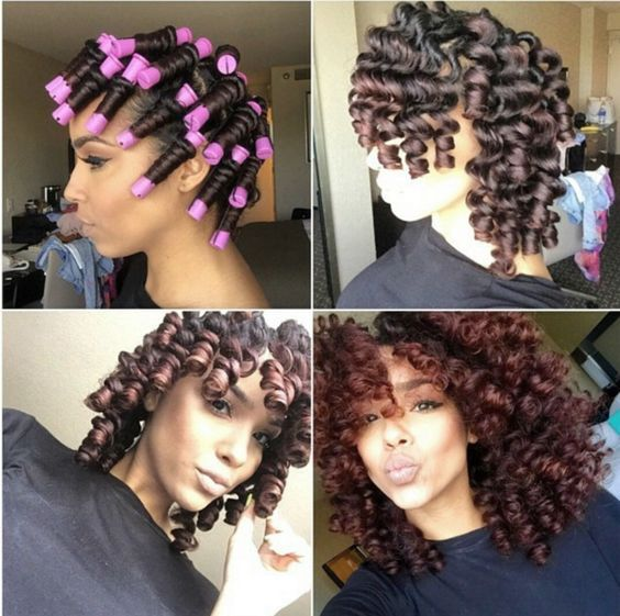 Natural Girl Hairstyles How To Flawless Protective Rod Sets On Natural Curly Hair  Natural