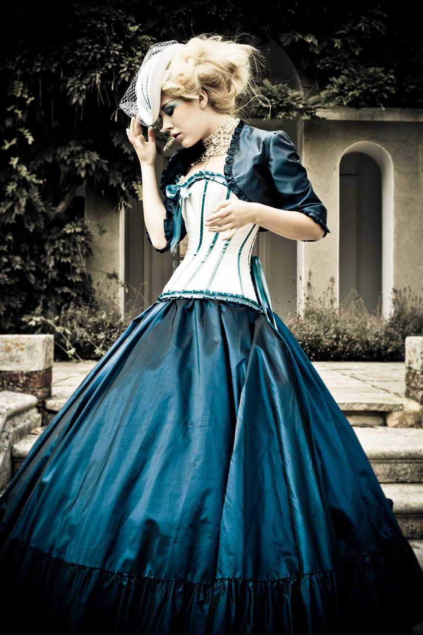 alternative wedding dress steampunk victorian corset