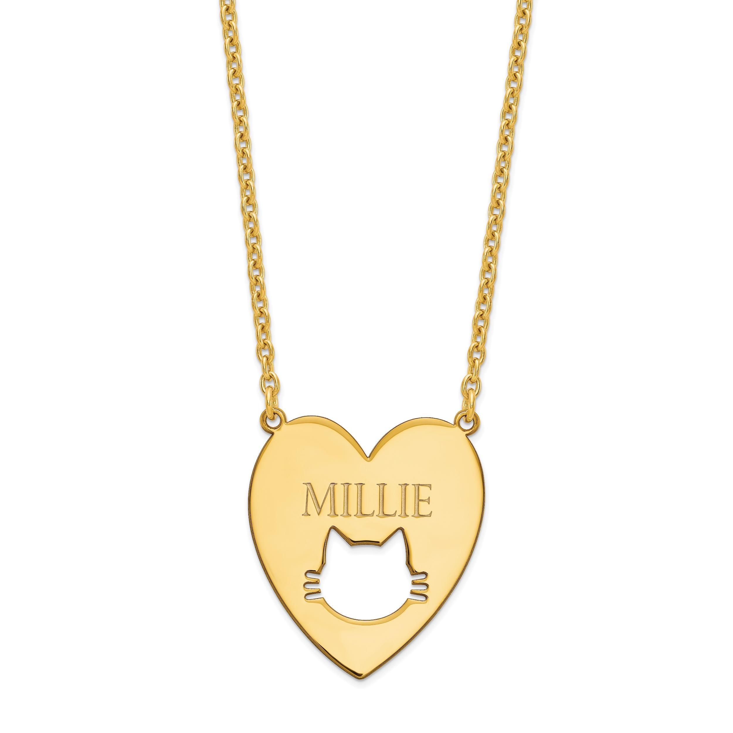 name yellow gold ip mini personalized walmart engraved com necklace bar pendant