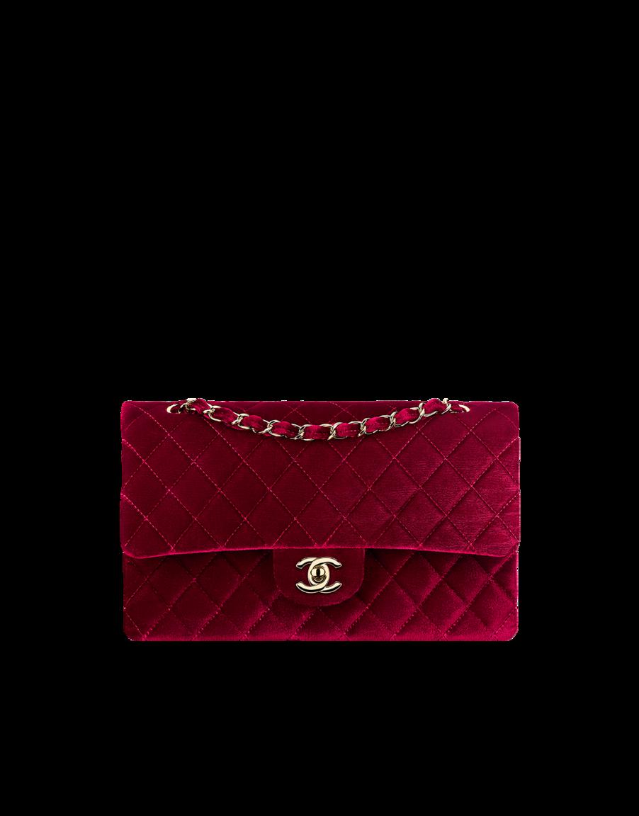 Velvet classic flap bag - CHANEL
