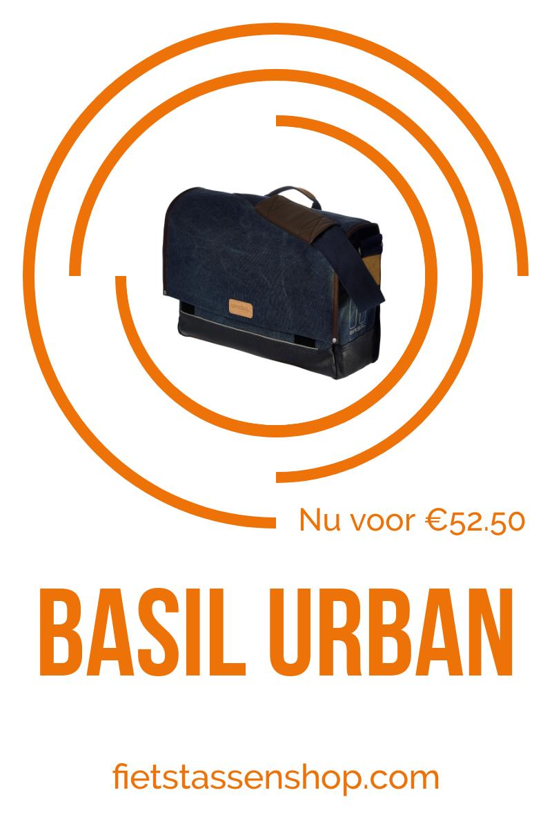 822927a4278 De Basil Urban Fold Messenger is een praktische en stijlvolle fietstas.  Deze handige tas is