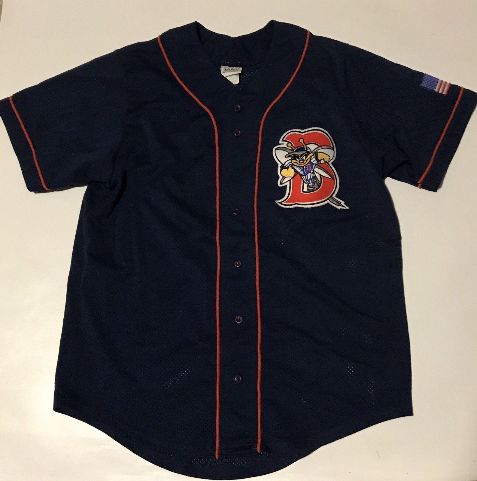 b61eb17b8 Vintage Binghamton Mets Game Used Jersey 6 Men s Medium