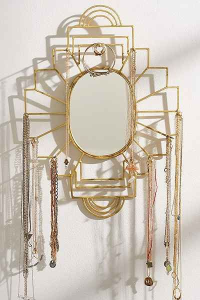 Plum Bow Jewelry Organizer Mirror Urban Outfitters 49 10 by 8