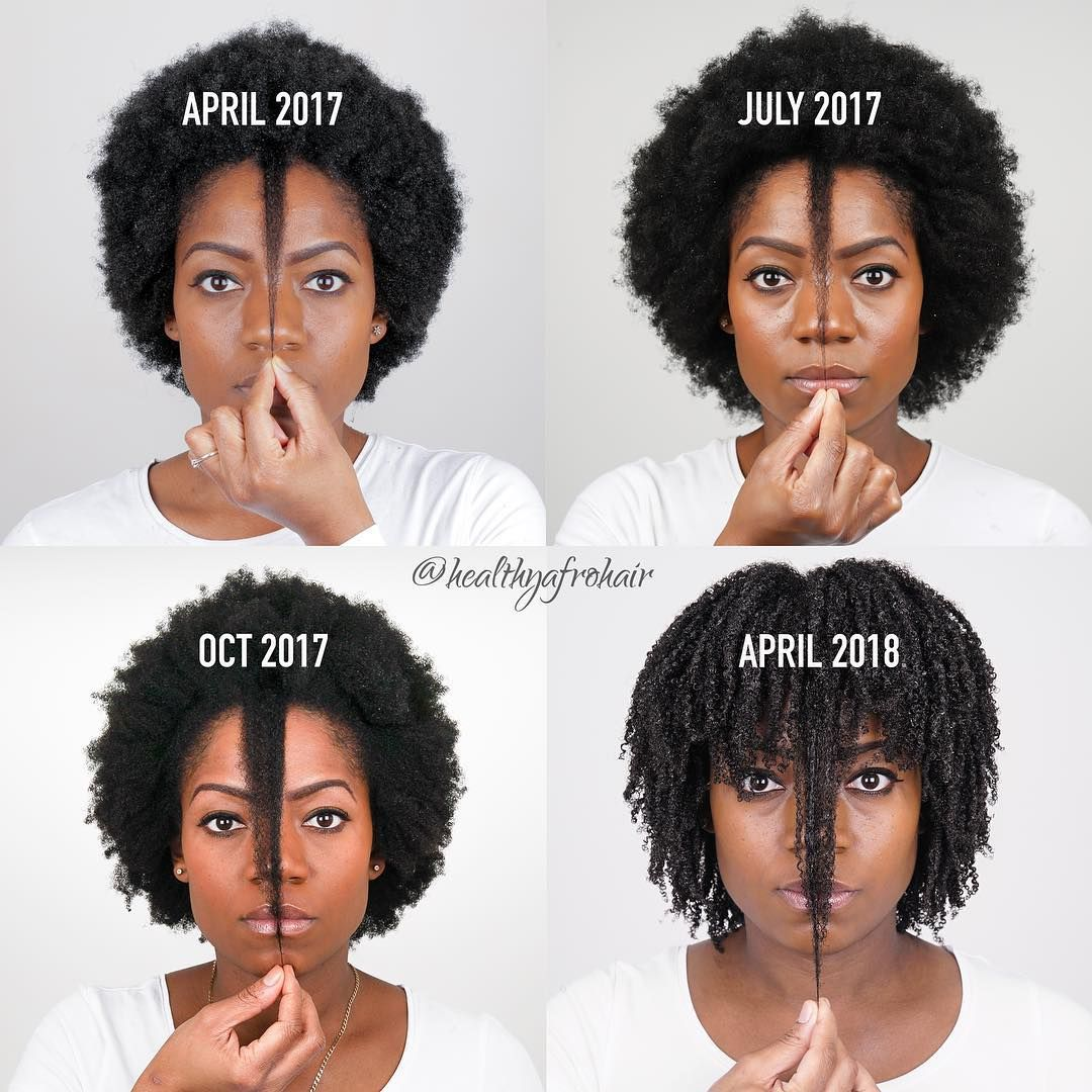 Side By Side Comparison One Year Anniversary Check Out This Journey Progression Ig Healthyafrohair Natural Hair Growth Afro Hair Growth Healthy Afro Hair