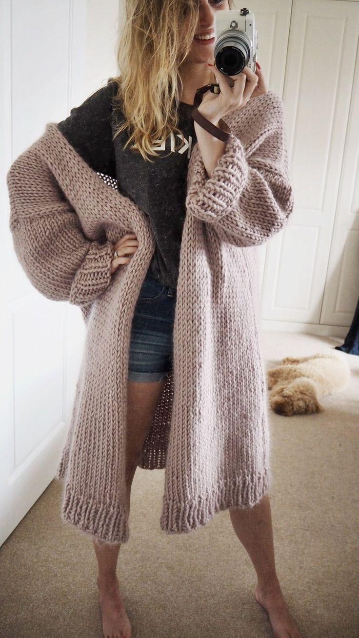 Knit Kit - Dreamy Oversized Cardigan | Oversized knit cardigan, Knit cardigan pattern, Cardigan patt