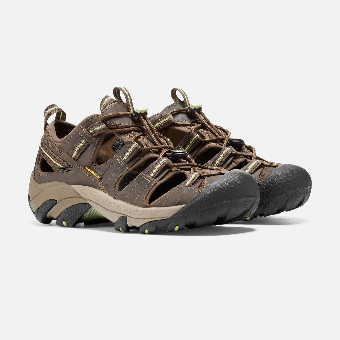 Keen Hiking Sandal Shoe | Arroyo II | Chocolate Chip and Sap Green